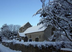 St Francis Church in the snow