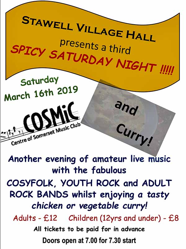 The Cosmic and Curry night event poster.